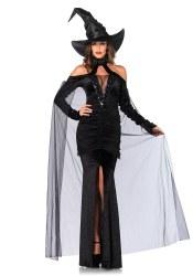 Karneval Halloween Damen Kostüm Sexy Zauberin
