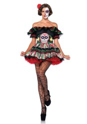 Leg Avenue Karneval Damen Kostüm Day Of The Dead Doll