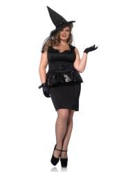 Karneval Halloween Damen Kostüm Vintage Hexe XL