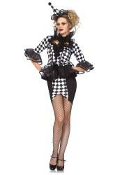 Leg Avenue Karneval Damen Kostüm Clown Hübscher Pierrot