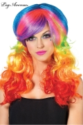 Leg Avenue Karneval Damen Perücke Regenbogen
