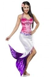 Atixo Karneval Damen Kostüm Meerjungfrau pink