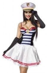 Atixo Karneval Damenkostüm Marine-Darling