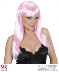 Karneval Damen Perücke BEAUTIFUL rosa