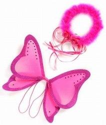 Great Pretenders Kinder Feen Flügel und Haarkranz pink