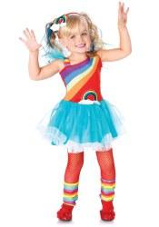 Karneval Mädchen Kostüm Rainbow Doll