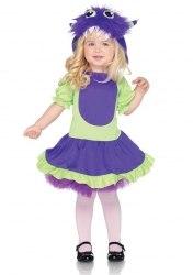 Karneval Halloween Mädchen Kostüm Knuddel Monster