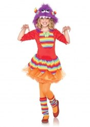 Leg Avenue Karneval Mädchen Kostüm Regenbogen Monster