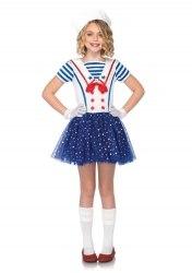 Leg Avenue Karneval Mädchen Kostüm Matrosin Sailer Sweetie