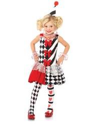 Leg Avenue Karneval Mädchen Kostüm Harlekin Clown