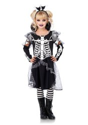 Leg Avenue Karneval Mädchen Kostüm Skelett Prinzessin