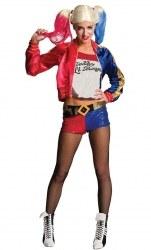 DC Super Hero Karneval Halloween Damen Kostüm Harley Quinn