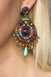 Damen Ohrringe Ohrstecker Oriental