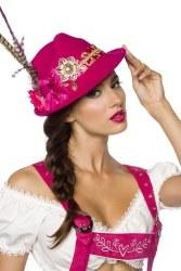 Dirndline Oktoberfest Damen-Trachtenhut Farbwahl