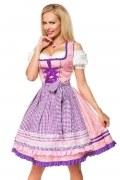 Dirndline Oktoberfest Dirndl mit Karoschürze lila