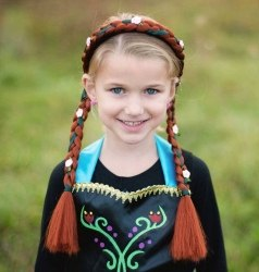 Great Pretenders Kinder Haarreif rote Zöpfe