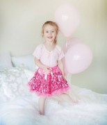 Great Pretenders Kinder Mädchen Petticoat Rock Pailletten pink