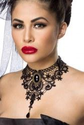 Halsband Kette Häkelspitze Gothic Dark Lady