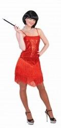 Karneval Damen Kostüm Charleston Red Glitter