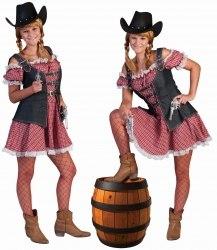 Karneval Damen Kostüm Cowgirl Denim Ranger