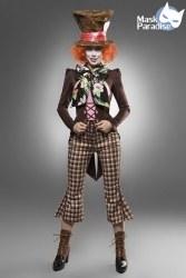 Karneval Damen Kostüm Hutmacher Crazy Hatter