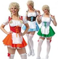 Karneval Damen Kostüm Dirndl rot