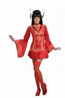 Karneval Damen Kostüm Geisha RED GINGER