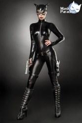Karneval Damen Kostüm Kämpferin Catwoman