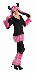 Karneval Damen Kostüm Kuschel Monster