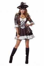 Karneval Damen Kostüm Luxus Piratin