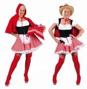 Karneval Damen Kostüm Rotkäppchen Cowgirl
