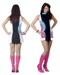 Karneval Damen Kostüm 60er Kleid Lola