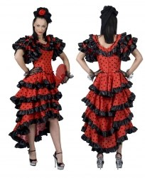 Karneval Damen Kostüm Spanierin Spanish Red