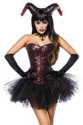 Karneval Damen Kostüm Teufel Devil Lady