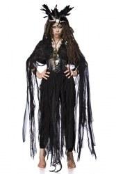 Karneval Halloween Damen Kostüm Voodoo Hexe