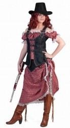 Karneval Damen Kostüm Western Cowgirl Denim Ranger