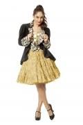 Karneval Damen Petticoat Rock Luxus metallic Farbwahl