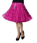 Karneval Damen Petticoat Rock Luxus pink