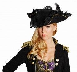 Karneval Damenhut Edel-Pirat