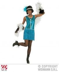 Karneval Damenkostüm Charleston Flapper blau