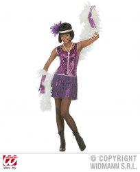 Karneval Damenkostüm Charleston Flapper lila