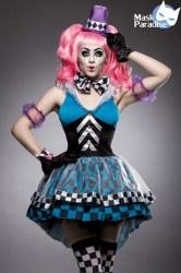 Karneval Damen Kostüm Set Hutmacher Crazy Hatter