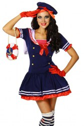 Karneval Damenkostüm Marine