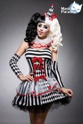 Karneval Damen Kostüm Set Harlekin