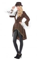 Karneval Damen Kostüm Steampunk Mantel