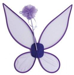 Karneval Feen Flügel und Zauberstab lila
