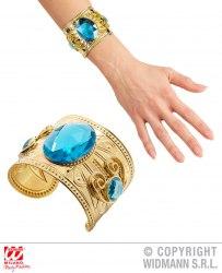 Karneval Goldener Armreif mit blauen Steinen