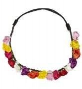 Karneval Haarband Blumen bunt