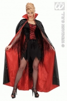 Karneval Halloween CAPE schwarz rot