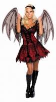 Karneval Halloween Damen Kostüm Fee VAMPIRE FAIRY
